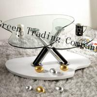 China Irregular Shape Tempered Glass Table Top / Glass Dining Room Sets wholesale