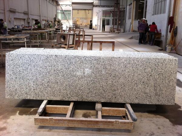 Quality G439 big white flower granite countertop cloud white granite countertop for sale