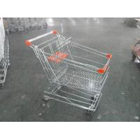 China Asian Style Metal Shopping Trolley 100KGS with Anti-rust Treatment wholesale