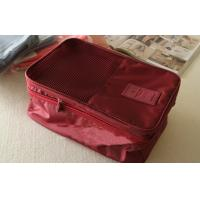 China Inner Net Pocket Red Large Size Travel Organizer Bag for Shoe / Clothing Storage wholesale