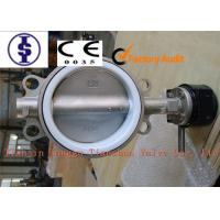 China PN10 PN16 Stainless Steel Butterfly Valve , Lever / Gear / Pneumatic actuator Butterfly Valves on sale