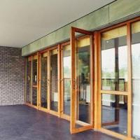 China Outward Opening Folding Door with Water-based Paint and Corrosion Resistance Feature wholesale
