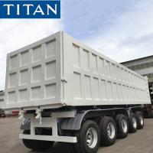 China TITAN 5 Axles Heavy Duty Hydraulic Telescopic Cylinder Tipper/Dumper/Dump Semi Trailer on sale