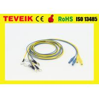 China silver plated copper Waterproof EEG cable DIN1.5 socket Ear-clip electrode wholesale