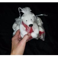 China COCA-COLA Brand Plush Polar Bear With Red Knit Scarf Coke For Christmas wholesale