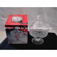 glass candy jar with lid, glass container for wholesale