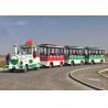 China 72 Passengers Tourist Train Rides Shopping Mall Train Fiberglass Material wholesale