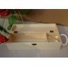China Personalised Wooden Wine Gift Box , Nature Pine Wood Wine Box 130 X 120 X 360 mm wholesale
