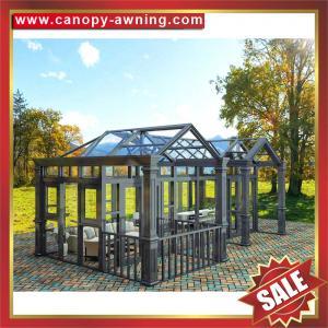 China Prefabricated outdoor garden aluminum metal alu glass sun house,sunroom,aluminium structure,super durable! wholesale