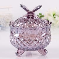 China Top 10.5 Cm Butterfly Glass Candy Bowl / Colored Decorative Candy Jars on sale