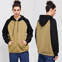 China Winter Wholesale Men Cut And Sew Hooded Sweatshirt on sale