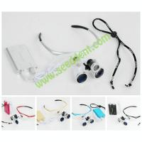 Colorful 3.5X Magnifying Glass Surgical Dental Loupe with head light Loupe-2