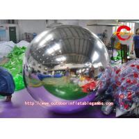 China Silver Nylon Cloth Inflatable Advertising Balloons For Interior / Exterior Decoration wholesale