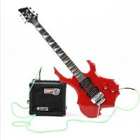 China flame electric guitar, double wave electric guitar on sale