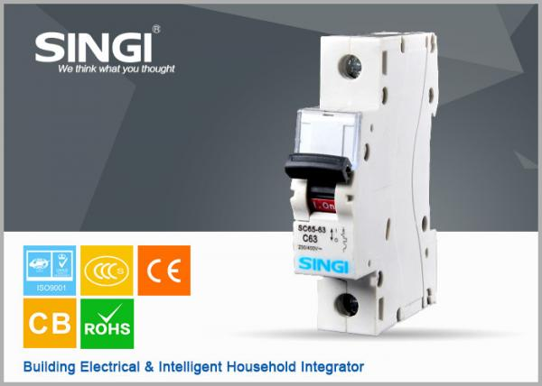 Quality SINGI SC65 63A one phase 400V mini circuit breaker(MCB) A grade LEG. mcb for sale