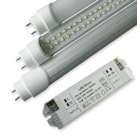 China SMD3528 8W 50000h 600mm Dimmable Led Light Tube With External DC Drivers, Rotating End Cap wholesale