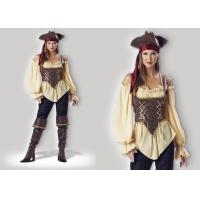 China Rustic Pirate Lady 1024  Halloween Adult Costumes Brown Yellow Red Mixed Color wholesale