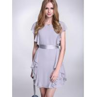 China High Waist Flattering Chiffon Cocktail Dresses With Ribbon For Girls wholesale