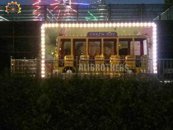 Quality Children Playground Crazy Dance Ride , Customized Waves Crazy Bus Ride for sale