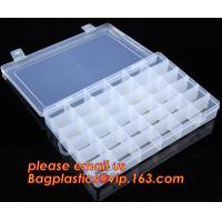 China Adjustable Plastic Storage Box For Nail Art Design Decoration, Creative multi-function plastic storage box cosmetics cas on sale