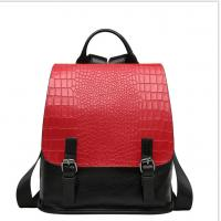 China Genuine Leather Backpacks Cowhide School Bags for Women Fahion  Alligator Pattern Double Shoulder Bags wholesale