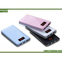 China 8000 Mah Portable External Battery Charger , Fast Charging Ultrathin Power Bank With Digital Display wholesale