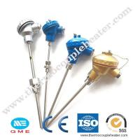 Buy cheap Assembly industrial thermocouple k and J type with flange for industrial use from wholesalers