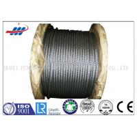China High Tensile Flexible Galvanized Steel Wire Rope With 6-48mm Wire Gauge wholesale