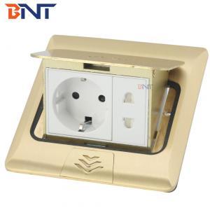China hidden pop up type with EU plug floor pop up socket box on sale