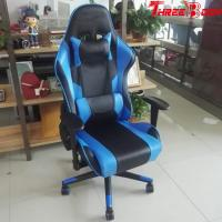 China Ergonomic  Racing Seat Gaming Chair Black And Blue Lumbar Support System wholesale
