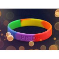 Personalised Silicone Bracelet Wristband Rainbow Color For School Gift