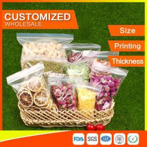 Buy cheap パッキング ジップ ロック式袋はLDPEのpolybagsの食糧パッキングゆとりのグリップのシールをカスタマイズしました from wholesalers