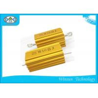 China Dummy Load Wire Wound Power Resistor Gold 25W 10k Ohm Resistor For Transducer on sale