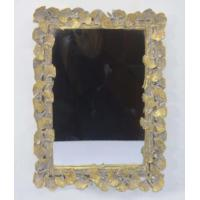 China Handcrafted Vintage Style Large Gold Framed Wall Mirrors With Ginkgo Leaf Border wholesale