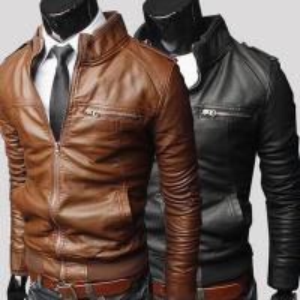 China Hot sale bulk plain polyester waterproof cheap european fashion winter men leather coat wholesale