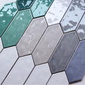 China 100x300 Arrow Shaped Decorative Wall Tiles For Kitchen Backsplash Eco Friendly wholesale