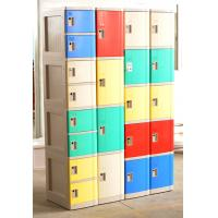 China 1609 X 727 X 300 Mobile Phone Lockers Blue / Beige Double Tier Lockers With Charging wholesale