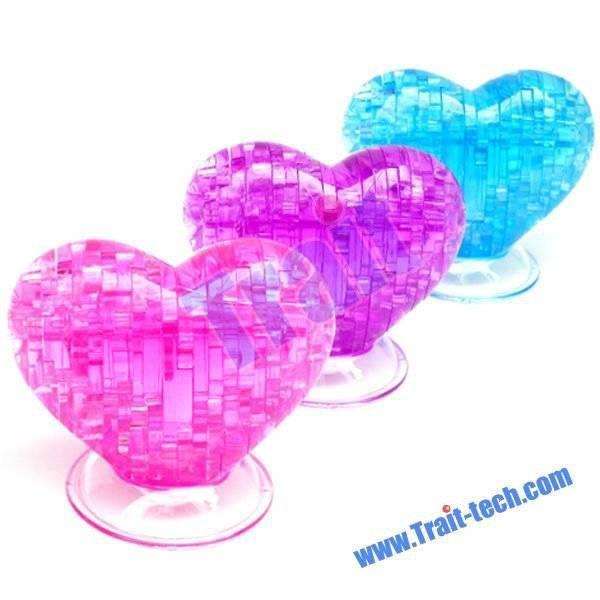 original 3d crystal puzzle heart instructions