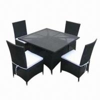 China Rattan dining chair/dining table/rattan dining set, customized sizes are accepted  on sale