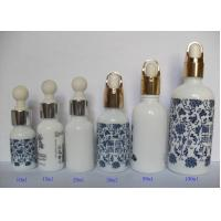China 100ml Essential Oil Glass Vials With Silver Pump Dropper Screen Printing wholesale