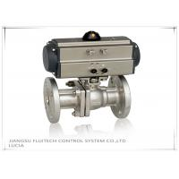 Double Action Stainless Steel Motorized Ball Valve / Two Piece Ball Valve