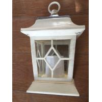 Buy cheap Yellow Flickering Outdoor Patio Solar LED Lantern / Patio Candle Lanterns from wholesalers