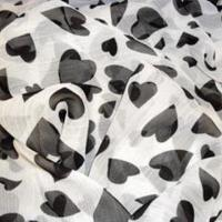 China Printed Crinkle Chiffon with 114 or 140cm Width, Made of 100% Silk wholesale