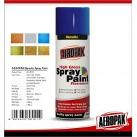 China Fast Dry 400ml Aerosol Spray Paints /  High Coverage Black Spray Paint For Cars wholesale