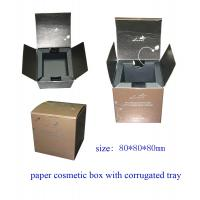 Buy cheap Paper Cosmetic Packing Box with Corrugated Tray from wholesalers