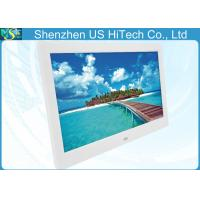 China 10 Inch Remote Control LCD Digital Photo Frame White / Black For Advertisement wholesale