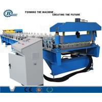 China Metal Steel Roof Panel Roll Forming Machine Blue PLC Control wholesale