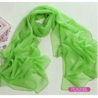 China Chiffon Solid Color Long Scarf with Label as YT-PD505L wholesale