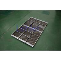 China Stainless Steel Column Internal Trays , Dewatering Wedge Wire Support Grid wholesale