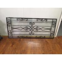 """Galvanized Wrought Iron Glass 22""""*48"""" Black Inlaid Double  Tempered Glass"""